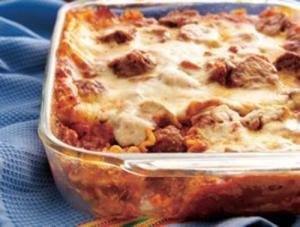 Low Calorie Meatball Lasagna
