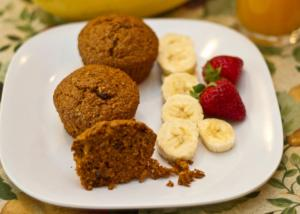 Eggless Bran and Raisin Muffin