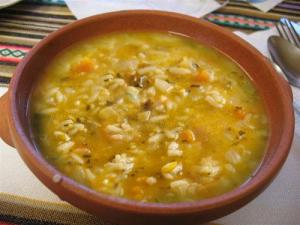 Rice and Vegetable Soup