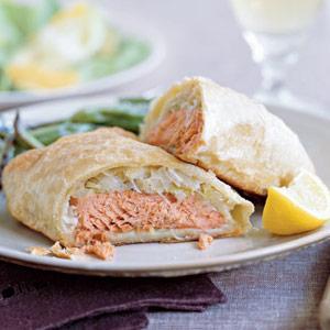 English Salmon Wellington