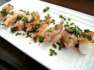 Sushi Style Pork & Daikon Radish 寿司風大根の豚肉のせのレシピ・作り方