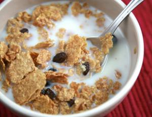 Cereals and milk - diet for bland eaters