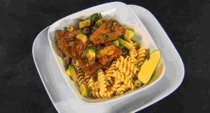 Tasty Salsa Verde Pork & Pasta Stew