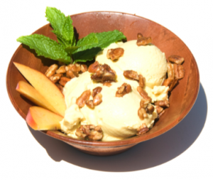 Peach Ice Cream: Raw Food Style