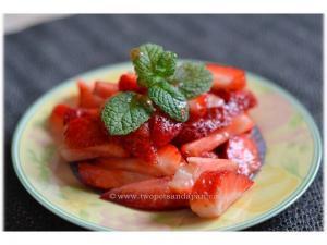 Honey and Brown Sugar Macerated Strawberries