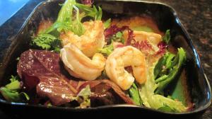 Garam Masala Shrimp with Coconut Oil Vinegarette