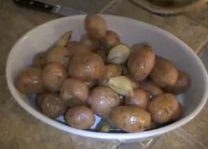 Roasted Garlic New Potatoes