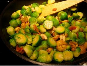 Brussels Sprouts with Sauce