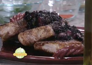 Pork Loin with Herbed Blueberry Sauce