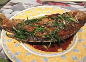 Bass With Peppered Stuffing