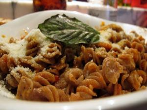 Fusilli with Sausage and Mushrooms