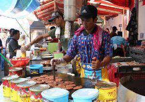 A fast food stall