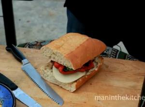 Simple Roasted Vegetable and Cheese Sandwich