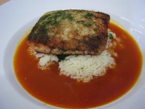 Wild Fennel Crusted Salmon With Tomato