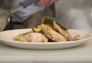 Pan Seared Chicken and Zucchini with a Chervil Pan Sauce