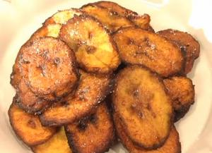 South American Fried Plantain Chips with Aji Salsa