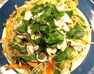 Chicken Noodle Salad With Spicy Peanut Butter