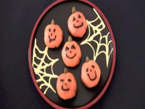 Halloween Jack-O'-Lantern Ball Sushi (Temari-Zushi)