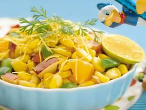 Corn Bhel (Healthy Snacks For Kids) by Tarla Dalal