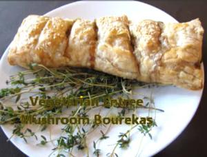 Mushroom Cream Cheese Bourekas