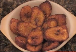 Ice Cream Caramel Fried Plantains