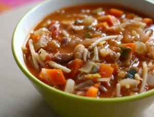 Minestrone With Spaghetti