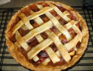 Peach Blackberry Pie