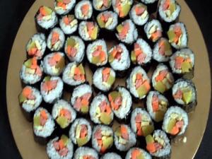 Korean Food Kimbap Rolls