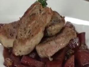 Pork Tenderloin and Apple Raisin Chutney with Sterling Cabernet