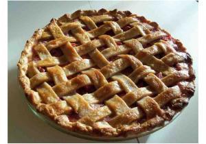 Rhubarb Lattice Pie