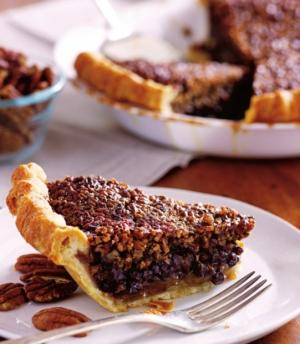 Chocolate-Pecan-Bourbon Pie