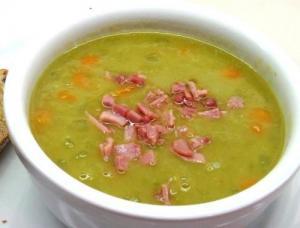 Quick Split-Pea Soup with Ham