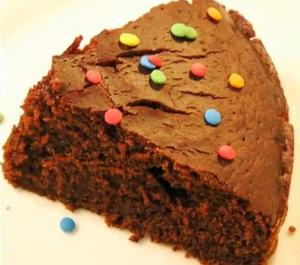 Homemade Eggless Chocolate Cake
