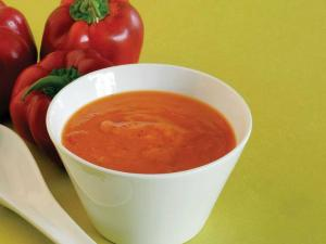 Roasted Capsicum Soup by Tarla Dalal