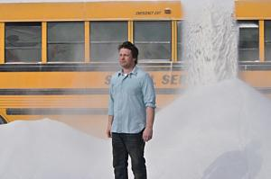 Jamie Oliver's Latest Food Stunt - 57 Tons Of Sugar In A Bus