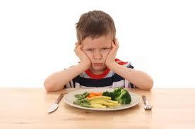 Kid and Vegetables