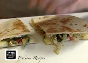 Quick Roasted Vegetable Tortilla