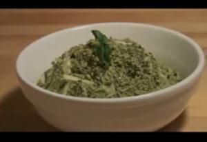 Spaghetti Squash Pasta with Pesto Sauce