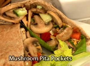 Easy Mushroom Pita Pockets