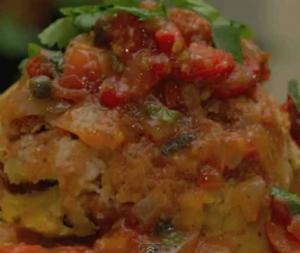 Elba's Puerto Rican Mofongo With Shrimp