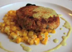 Salmon Cakes With Creamy Corn Relish