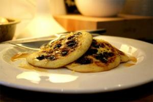Mini Blueberry Banana Pancakes