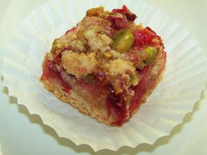 Cranberry Orange Pistachio Crumb Bars
