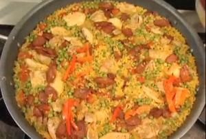 Meat, Seafood and Vegetable Paella