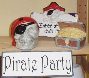 A pirate theme party is the best way to display your the adventurous side