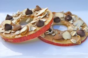 Apple and Peanut Butter Discs