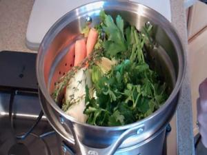 Cooking Chicken and Making Homemade Stock