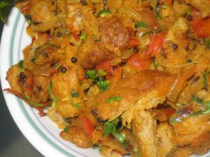 Spicy Bread Upma