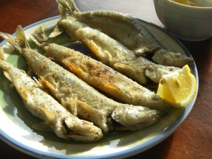 Pan-Fried Cornmeal-Coated Maine Smelts