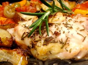 Chicken and Fresh Vegetables Provencale